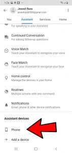Take a screenshot With Google Assistant