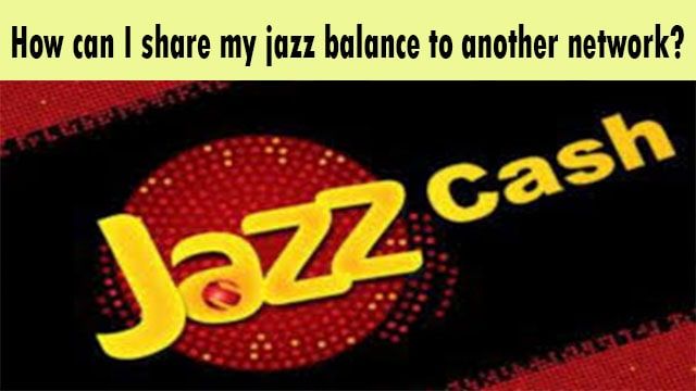How can I share my jazz balance to another network?