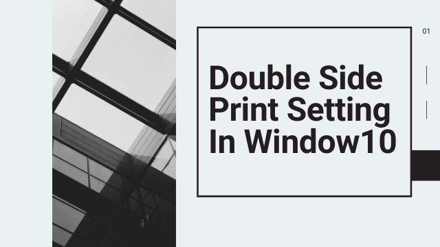 How do I print front and back on Windows 10?