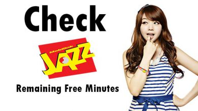 how to check jazz free minutes