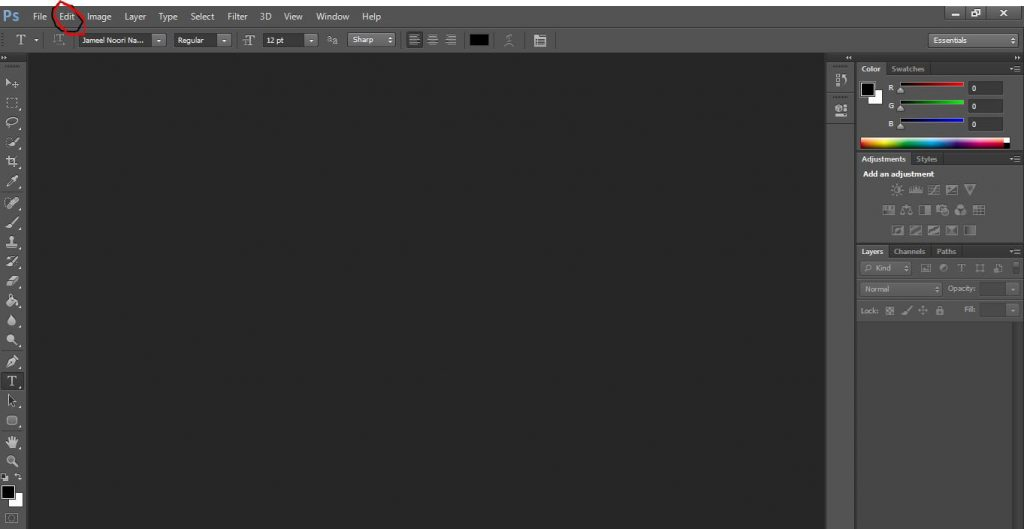 How to Write Urdu in Photoshop 7.0, Cs6, Cs5, Cs3, Cc Without In page?