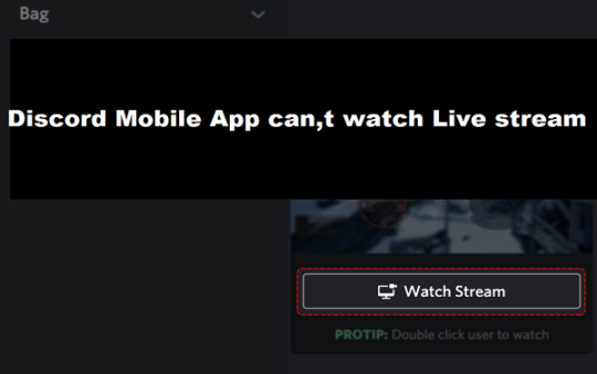 Discord Mobile App can,t watch Live stream 2021