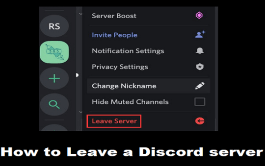 How to Leave a Discord server? Easy way with Picture