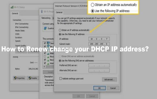 How to Renew/change your DHCP IP address?