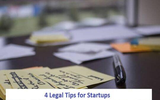 4 Legal Tips for Startups