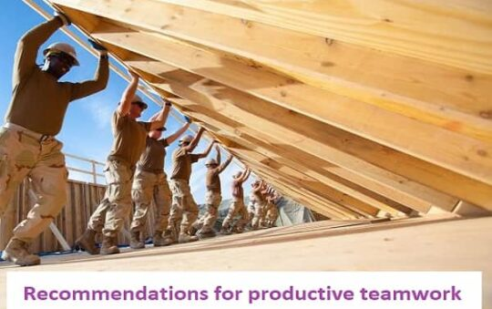 Recommendations for productive teamwork
